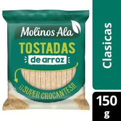 Tostadas Clásicas de Arroz Molinos Ala x 150 g.