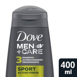Shampoo 3 en 1 Sport Dove Men x 400 cc.