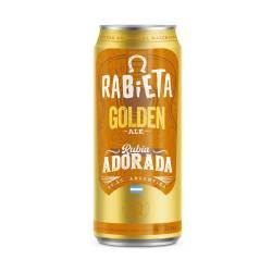 Cerveza Lata Golden Ale Rabieta x 473 cc.