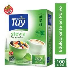 Endulzante 0 Calorías Stevia Sobres Tuy x 100 un.
