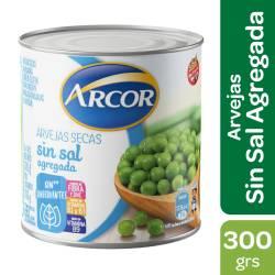 Arvejas Secas Remojadas s/Sal agregada Arcor x 300 g.