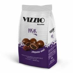 Pasas de Uva Bañadas c/Chocolate Vizzio x 100 g.