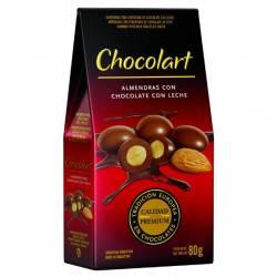 Almendras con Chocolate con Leche Chocolart x 80 g.