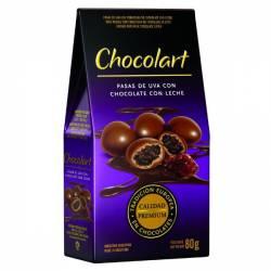 Pasas de Uva con Chocolate c/Leche Chocolart x 80 g.