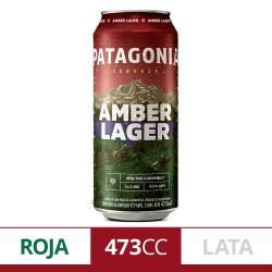 Cerveza Amber Lager Lata Patagonia x 473 cc.