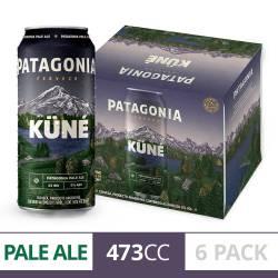 Cerveza Kune Patagonia Pack x 6 Latas de 473 cc.