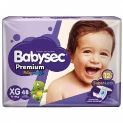 Pañal XG Premium Flexi Prot. Híper Babysec x 48 un.