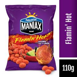 Maní Japonés Flamin Hot Maniax x 110 g.