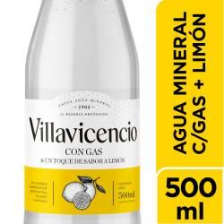 Agua Mineral c/Gas & Toque s/Limón Villavicencio x 500 cc.