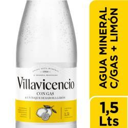 Agua Mineral c/Gas & Toque s/Limón Villavicencio x 1,5 Lt.