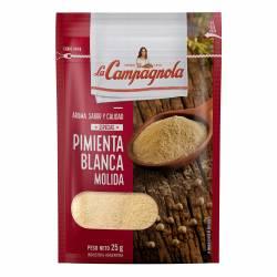 Pimienta Molida Blanca La Campagnola x 25 g.
