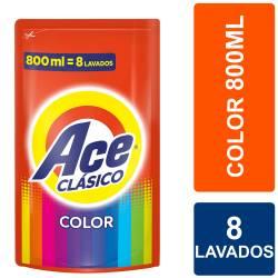 Líquido Lavar Ropa Clásica Color Doy Pack Ace x 800 cc.