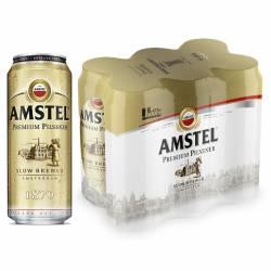 Cerveza Lata Amstel Pack x 6 Latas de 473 cc.