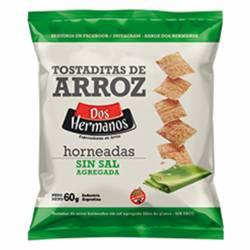 Tostadas de Arroz Horneadas sin Sal Dos Hermanos x 60 g.