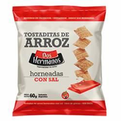 Tostadas de Arroz Horneadas con Sal Dos Hermanos x 60 g.