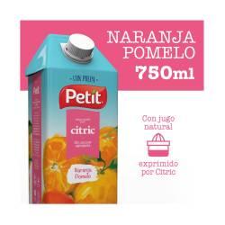 Jugo Naranja Pomelo con Pulpa Tetra Petit x 750 cc.