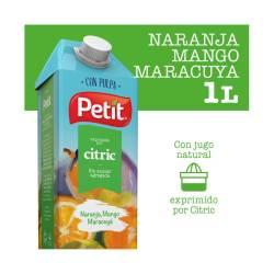 Jugo Naranja Mango Maracuyá c/Pulpa Petit x 1 Lt.