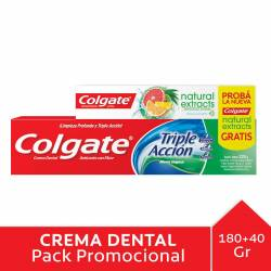 Crema Dental Total Accion + Gel Colgate x 220 cc.