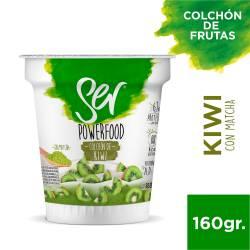 Yogur Descremado c/Colchón de Kiwi c/Matcha Ser x 160 g.