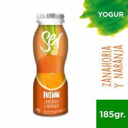 Yogur Descremado Bebible Fusión Naranja Zanahoria Bot Ser x 185 g.