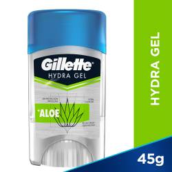 Antitranspirante Barra Gel Hydra Gel Alo Gillette x 45 g.