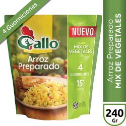 Arroz Preparado Mix de Vegetales Gallo x 240 g.