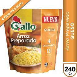 Arroz Preparado sabor Queso Gallo x 240 g.