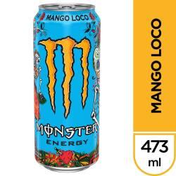 Bebida Energizante Mango Loco Monster x 473 cc.
