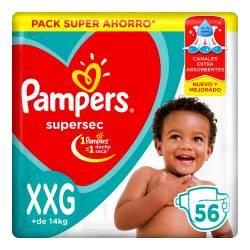 Pañal XXG Supersec Híper Pampers x 56 un.