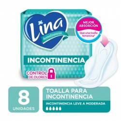 Toalla Incontinencia c/Alas Lina x 8 un.