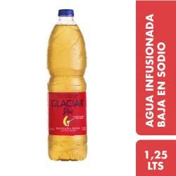 Agua Infusionada Manzana Roja c/Te Negro Glaciar Plus x 1,25 Lt.