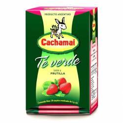Te Verde en Saquitos sabor Frutilla Cachamai x 20 un.