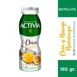 Yogur Parcialmente Descremado Mango Maracuyá Chía Bot Activia x 185 g.