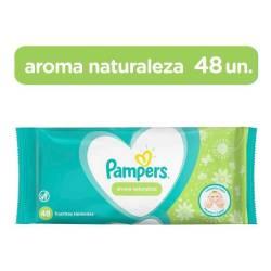 Toallitas Húmedas Aroma Naturaleza Pampers x 48 un.