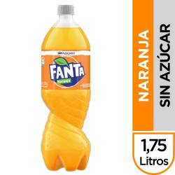 Gaseosa Naranja s/Azúcar Pet Fanta x 1,75 Lt.