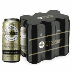 Cerveza Lata Warsteiner Pack x 6 Latas de 473 cc.