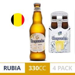 Cerveza Long Neck Trigo Hoegaarden Pack x 4 Latas de 330 cc.