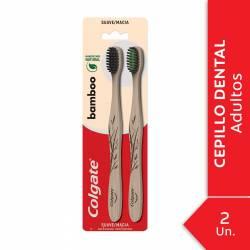 Cepillo Dental Suave Bamboo Colgate x 2 un.