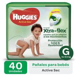 Pañal G Active Sec Híper Huggies x 40 un.