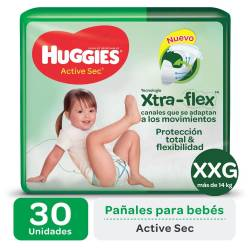 Pañal XXG Active Sec Híper Huggies x 30 un.