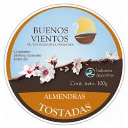 Almendras Enteras Gr Sup Tostadas Buenos Vientos x 100 g.