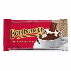 Tableta de Chocolate para Taza Bombonett x 100 g.
