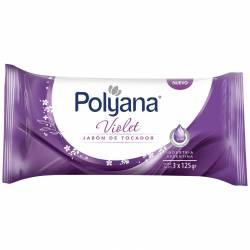 Jabón Tocador Violet Polyana x 3 un.