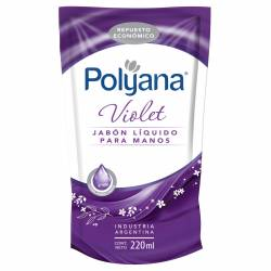 Jabón Líquido Manos Violet Doy Pack Polyana x 220 cc.