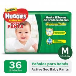 Pañal M Pants Active Sec Híper Huggies x 36 un.