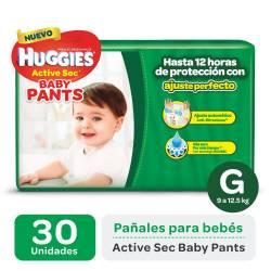 Pañal G Pants Active Sec Híper Huggies x 30 un.