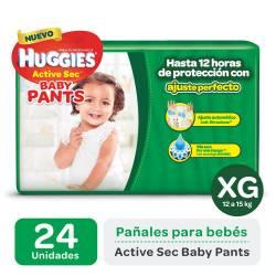Pañal XG Pants Active Sec Mega Huggies x 24 un.