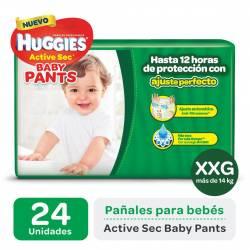 Pañal XXG Pants Active Sec Mega Huggies x 24 un.