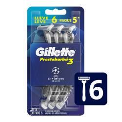 Máquina Afeitar Prestobarba Oft Gillette x 6 un.