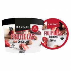 Bocadito Frutilla c/Baño Chocolate Congelado Karinat x 120 g.